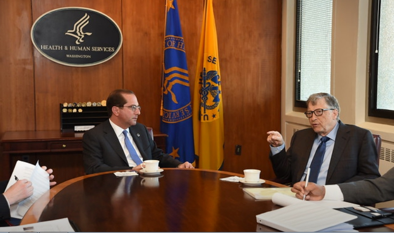 Alex Azar and Bill Gates